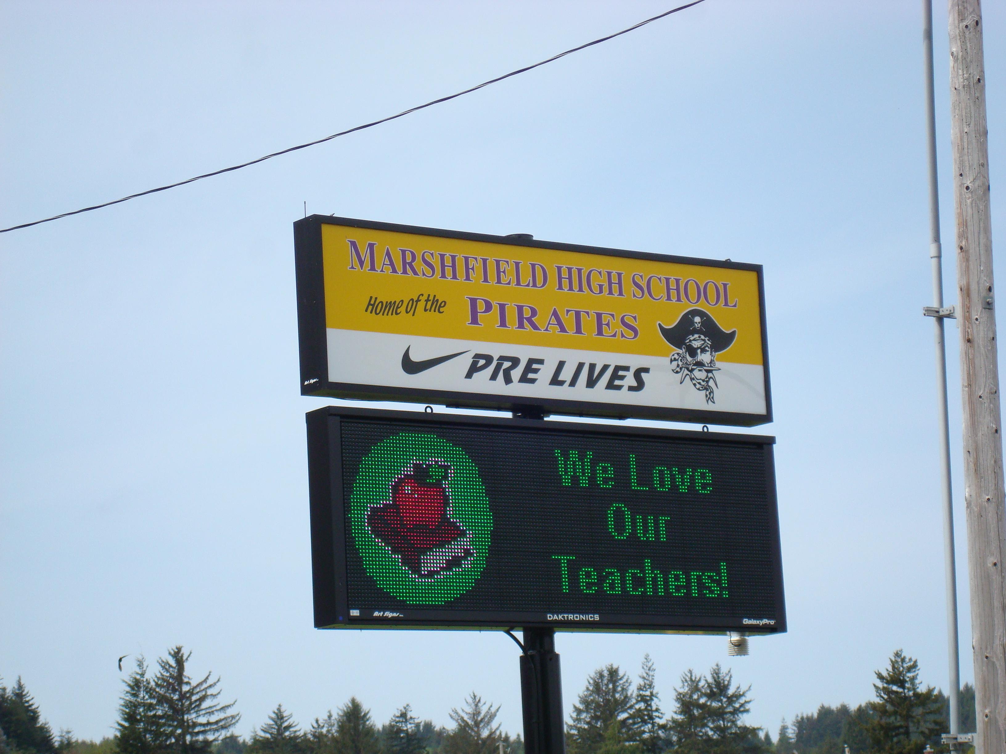 Marshfield HS - Pre Lives