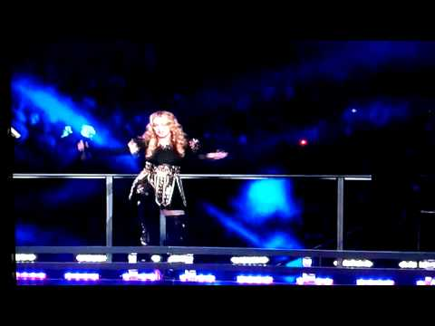 Madonna trip on stage at halftime of Super Bowl